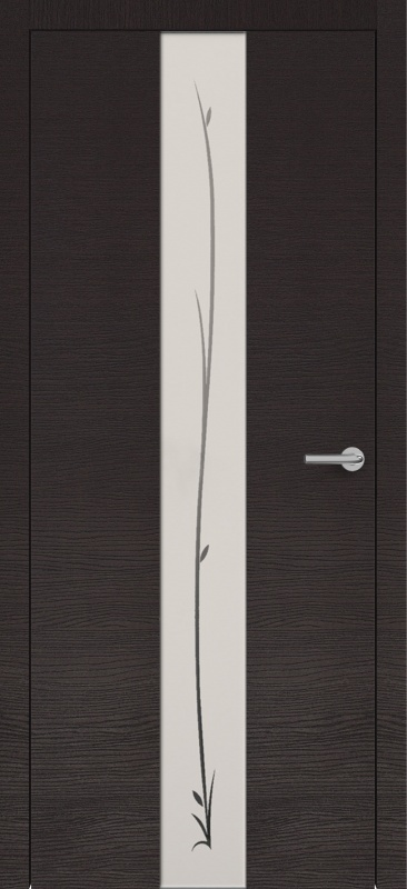 Zadoor Горизонт ПО Н4 окаша венге стекло зеркало с рисунком