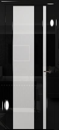 Арт Деко Vatikan Premium Глянец Спациа-5  черный глянец черный триплекс кипельно-белый