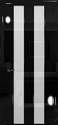 Арт Деко Vatikan Premium Глянец Амалия-2  черный глянец черный триплекс кипельно-белый