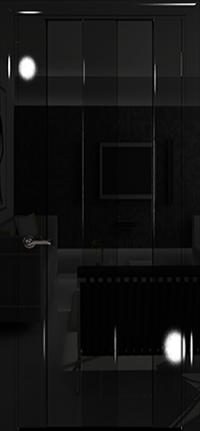 Арт Деко Vatikan Premium Глянец Амалия-2  черный глянец триплекс черный