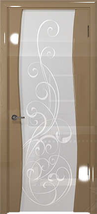 Арт Деко Vatikan Premium Глянец Вэла  бежевый глянец триплекс кипельно-белый с рисунком Альтеза