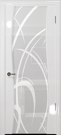 Арт Деко Vatikan Premium Глянец Вэла белый глянец триплекс кипельно-белый рисунок с пескоструйной обработкой