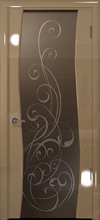 Арт Деко Vatikan Premium Глянец Вэла  бежевый глянец триплекс тонированный с рисунком Альтеза