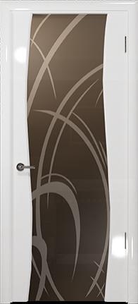 Арт Деко Vatikan Premium Глянец Вэла белый глянец триплекс тонированный рисунок с пескоструйной обработкой