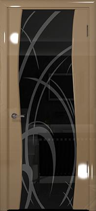 Арт Деко Vatikan Premium Глянец Вэла  бежевый глянец триплекс черный с рисунком