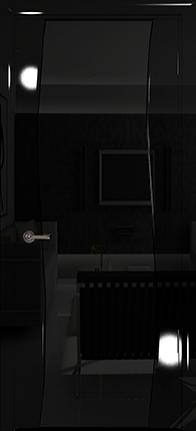 Арт Деко Vatikan Premium Глянец Вэла  черный глянец триплекс черный