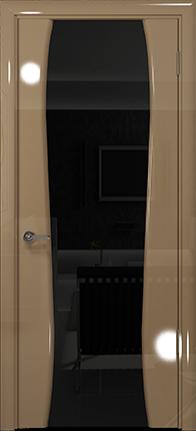 Арт Деко Vatikan Premium Глянец Лиана-3  бежевый глянец триплекс черный