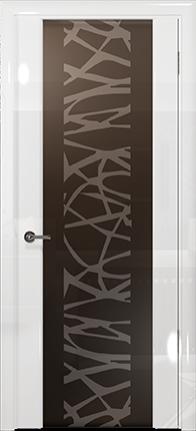 Арт Деко Vatikan Premium Глянец Спациа-3 белый глянец триплекс мокко с рисунком Чиза