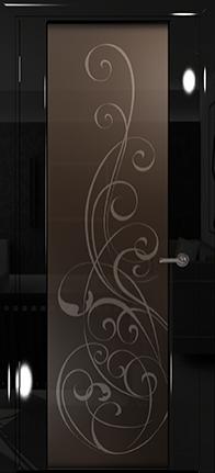 Арт Деко Vatikan Premium Глянец Спациа-3  черный глянец триплекс мокко с рисунком