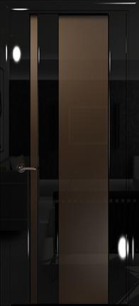Арт Деко Vatikan Premium Глянец Спациа-5  черный глянец триплекс тонированный