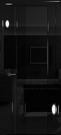 Арт Деко Vatikan Premium Глянец Спациа-5  черный глянец триплекс черный