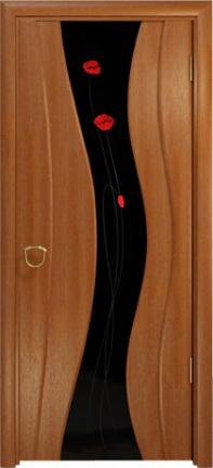 Арт Деко Стайл Корса красное дерево триплекс черный с фьюзингом