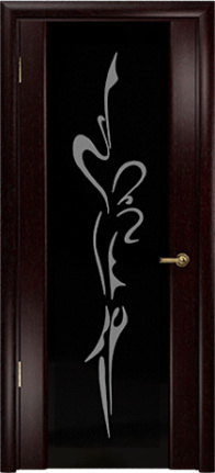 Арт Деко Стайл Спация-3 венге триплекс черный с рисунком