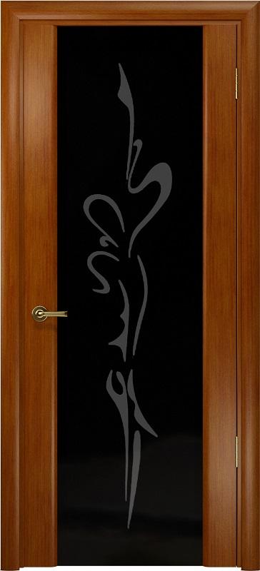 Арт Деко Стайл Спация-3 анегри темный триплекс черный с рисунком «Чингизхан»