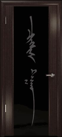 Арт Деко Стайл Спация-3 эвкалипт триплекс черный с рисунком «Чингизхан»