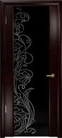 Арт Деко Стайл Спация-3 венге триплекс черный с рисунком cо стразами