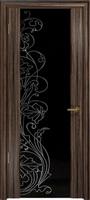 Арт Деко Стайл Спация-3 эбен триплекс черный с рисунком cо стразами