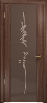 Арт Деко Стайл Спация-3 орех американский триплекс тонированный с рисунком «Чингизхан»