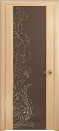 Арт Деко Стайл Спация-3 беленый дуб триплекс тонированный с рисунком cо стразами