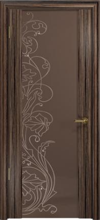 Арт Деко Стайл Спация-3 эбен триплекс тонированный с рисунком cо стразами