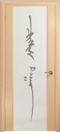 Арт Деко Стайл Спация-3 беленый дуб триплекс белый с рисунком «Чингизхан»