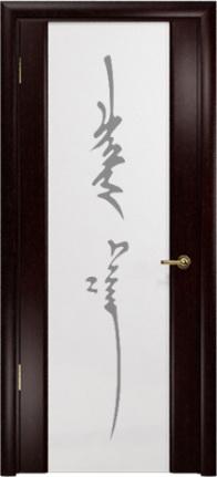 Арт Деко Стайл Спация-3 венге триплекс белый с рисунком «Чингизхан»