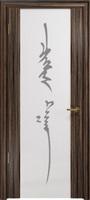 Арт Деко Стайл Спация-3 эбен триплекс белый с рисунком «Чингизхан»