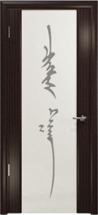 Арт Деко Стайл Спация-3 эвкалипт триплекс белый с рисунком «Чингизхан»