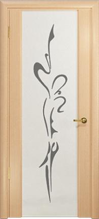 Арт Деко Стайл Спация-3 беленый дуб триплекс белый с рисунком