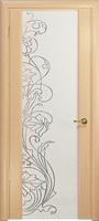 Арт Деко Стайл Спация-3 беленый дуб триплекс белый с рисунком  cо стразами