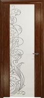 Арт Деко Стайл Спация-3 сукупира триплекс белый с рисунком  cо стразами