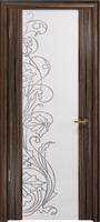 Арт Деко Стайл Спация-3 эбен триплекс белый с рисунком  cо стразами