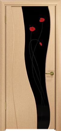 Арт Деко Стайл Селена беленый дуб триплекс черный с фьюзингом