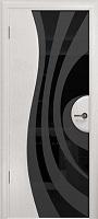 Арт Деко Стайл Ветра-1 ясень белый триплекс черный с рисунком