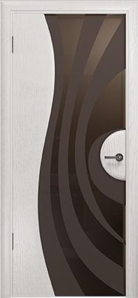 Арт Деко Стайл Ветра-1 ясень белый триплекс мокко с рисунком