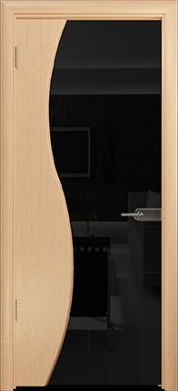Арт Деко Стайл Ветра-3 беленый дуб триплекс черный