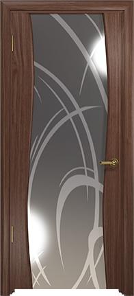 Арт Деко Стайл Вэла орех американский зеркало с рисунком