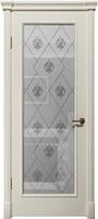 """Арт Деко Vatikan Matte  Византия RAL 9003 (белый) полимерный контур Silver на сатинате """"Лилия"""""""