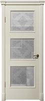 """Арт Деко Vatikan Matte  Византия 3 RAL 9003 (белый) полимерный контур Silver на сатинате """"Эллада"""""""