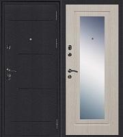 Стальная дверь Колизей Зеркало беленый дуб