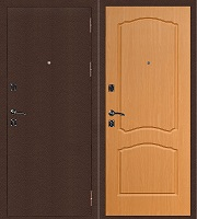 Стальная дверь Стандарт Антик Медь Классика миланский орех