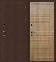 Стальная дверь Стандарт Антик Медь Колизей дуб золотистый