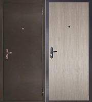 Стальная дверь Эконом теплая капучино