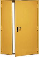 Дверь техническая двустворчатая