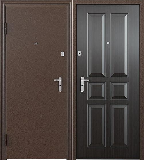 Стальная дверь Torex ULTRA M7 Медный антик / СК-2 Венге Норд