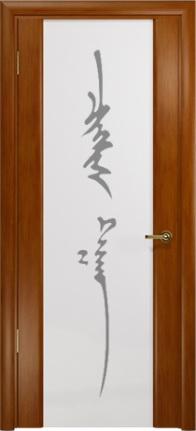 Арт Деко Стайл Спация-3 анегри темный триплекс белый с рисунком «Чингизхан»