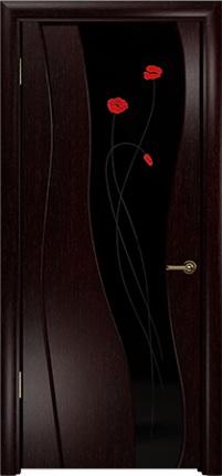 Арт Деко Стайл Селена венге триплекс черный с фьюзингом