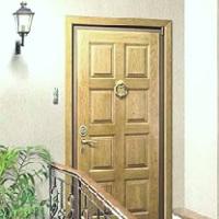 Входная дверь беленый дуб