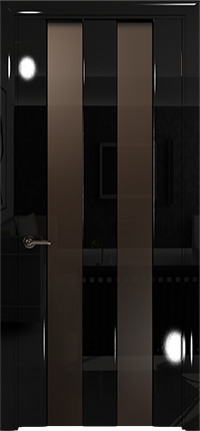 Арт Деко Vatikan Premium Глянец Амалия-2  черный глянец черный триплекс мокко