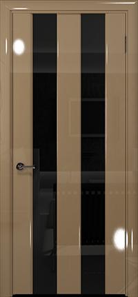 Арт Деко Vatikan Premium Глянец Амалия-2  бежевый глянец триплекс черный
